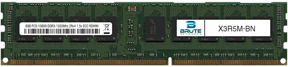 Brute Networks X3R5M-BN - 8GB PC3-10600 DDR3-1333Mhz 2Rx4 1.5v ECC Registered RDIMM (Equivalent to OEM PN # X3R5M)