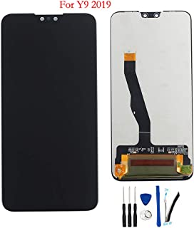 """LCD Display Digitizer Touch Screen Glass Panel Assembly Replacement for Huawei Y9 2019 JKM-LX1 JKM-LX2 JKM-LX3 JKM-AL00a /Enjoy 9 Plus 6.5"""" Black no Frame(Y9 2019)"""