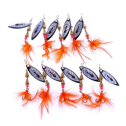 YZD Mosca Pesca Big Trucha Moscas Kit Top 10 Steelhead Moscas Flyfishing Gear Wet Dry Moscas Trucha se/ñuelos Streamer Nymph Emerger Pesca Surtido Trucha Moscas Salm/ón