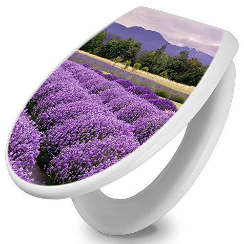 banjado Toilettendeckel mit Absenkautomatik | WC Sitz 42cm x 4cm x 37cm | Klodeckel weiß |...