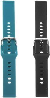 Preto + Azul Substituição Pulseira De Silicone Apto Para Samsung Galaxy Watch Active 2