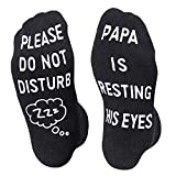 Funny Saying Please Do Not Disturb PaPa is Resting His Eyes-Best Gifts Socks For PaPa Dad