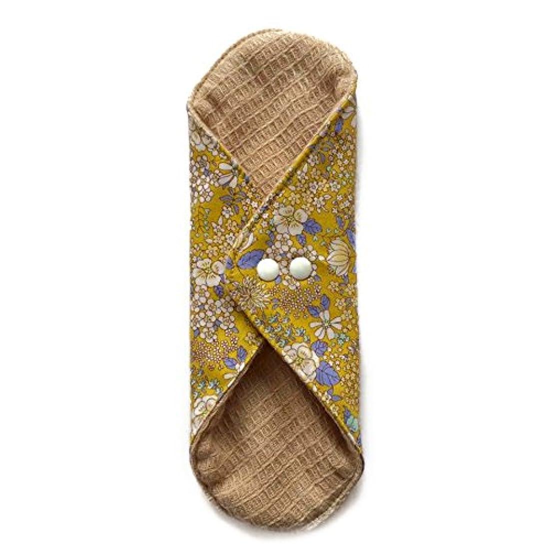 品種暗くするノベルティ華布のオーガニックコットンの極み あたため布 Lサイズ (約18×約20.5×約0.6cm) 雅(マスタード)