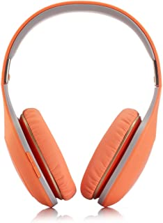 Wireless Bluetooth Headphones Foldable Earphone Deep Bass Headphones Soft Memory-Protein Earmuffs, with Mic for Home Office Online Class Travel Cellphone PC TV,Orange