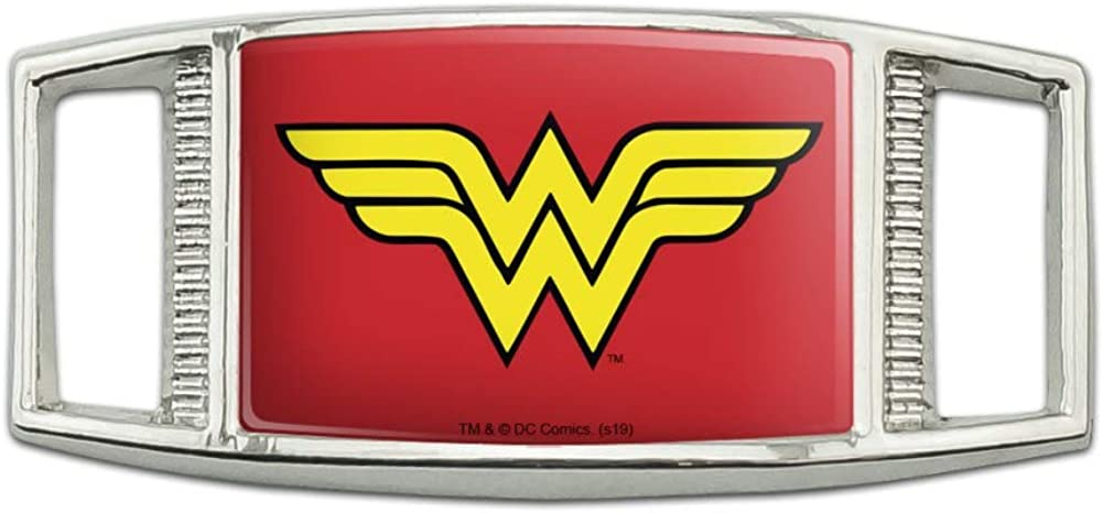 Wonder Woman Classic Logo Rectangular Arlington Mall Ta Fashionable Lace Shoelace Shoe