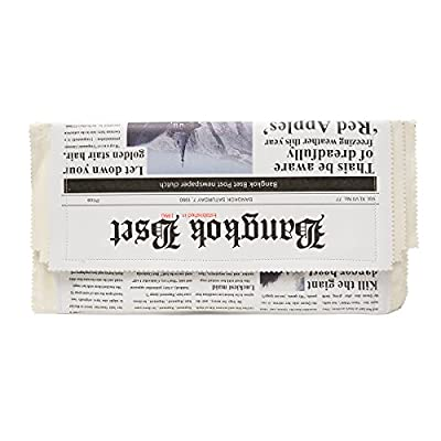Zarapack Women's Pu Leather Newspaper Clutch Party Purse Chain shoulder Bag IT Bag