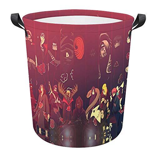 Na-ruto - Cesta plegable impermeable de 17.3 pulgadas, cesta de ropa sucia, cesta de lavandería, tela Oxford, organizador de almacenamiento para juguetes