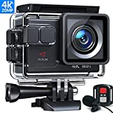 Victure AC700 Action Cam 4K Wi-Fi 20MP Webcam con Controllo Remoto e Microfono...