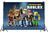 5x3FT Video Game Photography Vinyl Photo Background for Kids Roblox Theme Birthday Party Backdrops Decoration