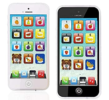 YOYOSTORE Phone Toy Play Cell Phone Mobile Cellphone with USB Recharable Cable for Baby Kids