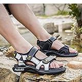 Moda Uomo Confortevole Pelle PU con giunture in Velcro Trend Giovani Sandali Sandali Sportivi all'aperto