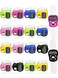 18 Pezzi Mano Tally Contatore 5 Digitale Dito Clicker Contatore Azzerabile Lap Contacolpi Meccanico Numero Click Contatore, 6 Colori