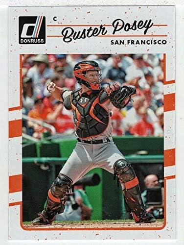Buster Posey Baseball Card 2017 Panini Donruss 141 Mint product image