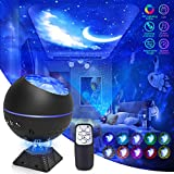Galaxy Projector Star Projector 3 in 1 Ocean Galaxy Night Light Ceiling Projector Galaxy 360 Pro Galaxy Globe Projector 40 Lighting Modes with Remote Voice Control for Bedroom Gift for Mom Kids Adults