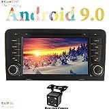 XISEDO Android 9.0 Radio de Coche RAM 4G ROM 32G Estéreo de Automóvil 7 Pulgadas Navegación en Coche 8 Core 2 DIN Sat Nav con Pantalla Táctil 1024 * 600 for Audi A3(2003-2011)