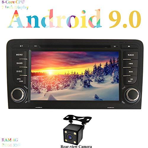 XISEDO 7' Android 9.0 Autoradio 2 Din 8-Core RAM 4G ROM 64G Navigatore GPS In-dash Car Radio e lettore DVD per Audi A3 (2003-2011) (A3)