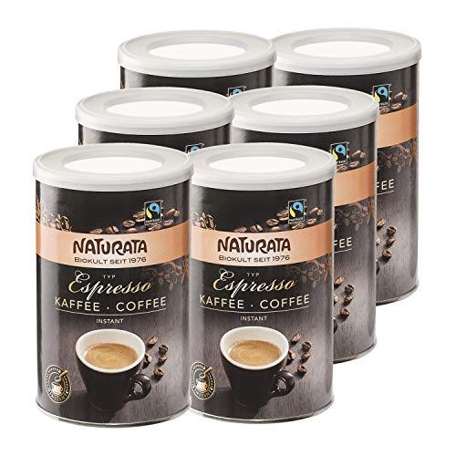 Naturata Bio Espresso Bohnenkaffee, instant, Dose (6 x 100 gr)