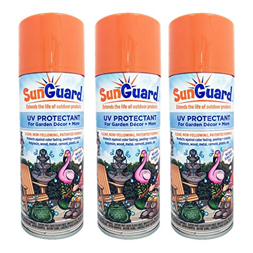 SUNGUARD UV Protectant Spray for Outdoor Decor, Furniture & More (3-Pack) Prevents Fading Peeling and Cracking