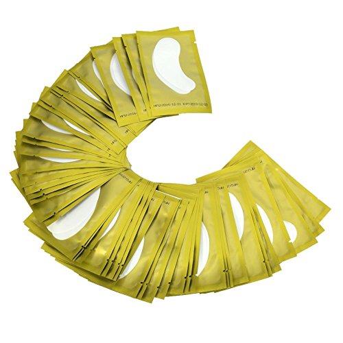 Patch Extension De Cils Paires Gel Patch de Cils Cils Pad Non-Lash Extension de Cils Eye Masque Outil de beauté Collagène sous le Patch Oeil(30 paires-or)