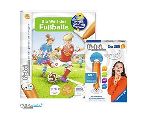tiptoi Ravensburger Buch   Die Welt des Fußballs (Band 21) 008018 Der Stift - neu mit Aufnahmefunktion