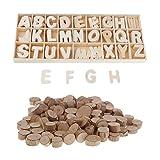P Prettyia Naturholz Log Holz Verzierungen Holzstücke und Holzbuchstaben für Kunsthandwerk DIY