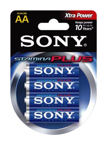 Sony AM3B4D Blister Alkaline Stamina Plus Mignon, AA, LR6 (1,5V, 4er Pack)