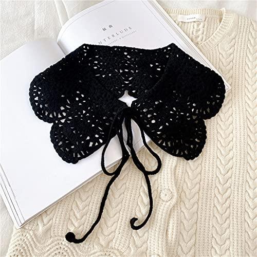Collares falsos chal de cuello falso camisa de mujer hueco ganchillo desmontable cuello suéter media camisa (color: 03)