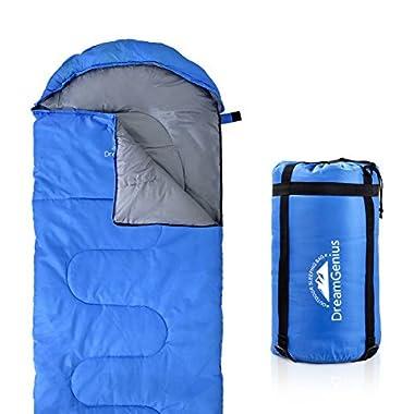 DreamGenius Sleeping Bag Envelope Lightweight Comfort Compression Sack 4 Season Camping