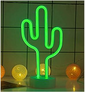LEMON TREE SL Lámpara Neón LED de decoración diseño Cactus, tamaño 30x15cm. Luz de