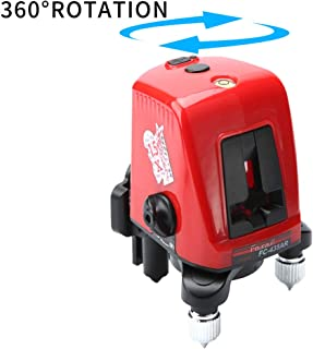 Red Beam Cross Line Laser Level with Tripod for Indoor Outdoor Construction Self Leveling Alignment Horizontal Vertical Measurement Tool