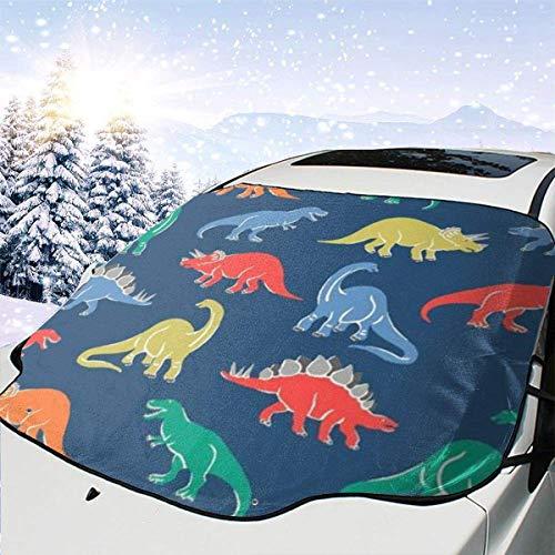 Cubierta de nieve para parabrisas de coche Pequeño dinosaurio Parasol para el sol Cubierta de parabrisas Protector de rayos para el sol Cubierta antipolvo Frost Snow Cubierta de hielo 147x118cm-85
