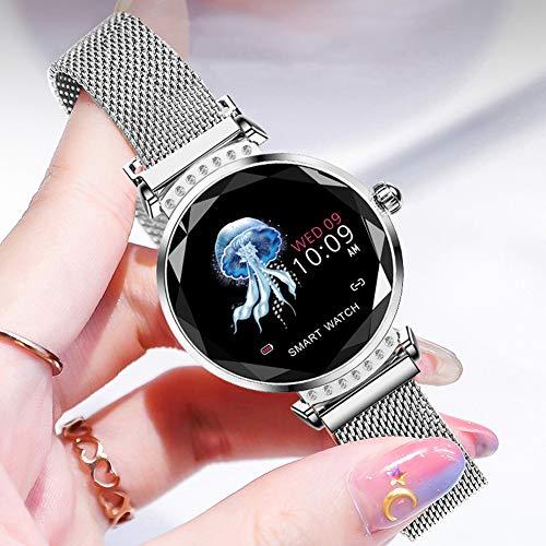 Sportuhr des intelligenten Armbanduhrüberwachungsherzfrequenzblutdrucks des Farbschirmes weibliche physiologische Pedometer Starry Starry-Silver