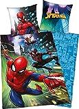 Ropa de Cama Spiderman de 80 x 80 cm, Funda nórdica de 135 x 200 cm, con Cremallera de Marca