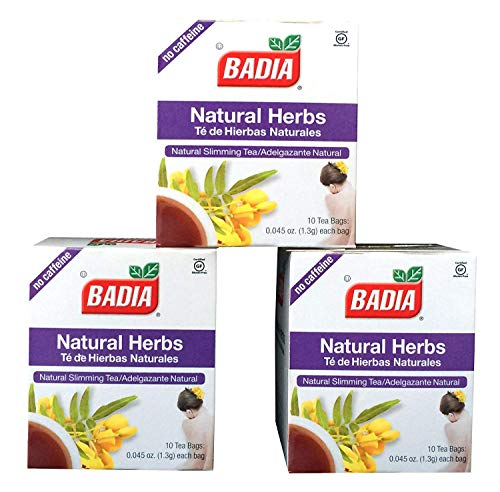 Badia Natural Herbs Tea Bags, Te de Hierbas Naturales, 10-Count (Pack of 3)