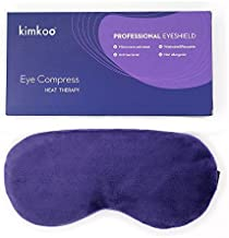 Kimkoo Moist Heat Eye Compress&Microwave Hot Eye Mask for Dry Eyes,Natural and Healthy Therapies,Purple