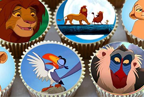 15 Lion King Cake Toppers comestible pré découpé