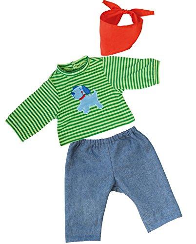 Bayer Design - 83845 - Vêtement pour Poupée - Habit Poupon - Pantalon du Jeans + T-Shirt - 38 Cm