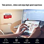 KOOTION 64GB Micro SD Card Class 10 TF Card UHS-1 MicroSDXC Memory Card, U1, C10, High-Speed 64GB TF Card for Smartphone… 14 【Widely Used】The 32 GB micro SD card is perfect for Android smartphones, tablets, digital cameras, game consoles, dash cameras, drones and surveillance system etc; It can use to store or back up high-res photos, videos, documents, music and more. 【Fast Transfer Speed】The TF memory card adopts Speed Class UHS-I(U1) and Class 10(C10) and provides you with 90MB/s of read speed and 25MB/s of write speed, and supports full HD video recording. (The Performance may vary based on host device, interface, usage conditions, and other factors.) 【Reliability & Security】The Micro SD card uses high-quality chip, features water-resistant, anti-magnetic, shockproof, high or low temperature resistant, and always keeps data safe.