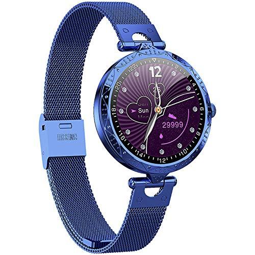 ZYD 2020 Mode AK22 Intelligente Montre Femmes IP68 étanche Taux Cardiaque Tensiomètre Intelligent Montre Cadeau pour Les Dames Montre-Bracelet,Bleu