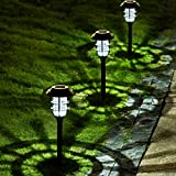 Solpex 8 Pack Solar Pathway Lights Outdoor,...