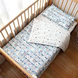 Toddler Bed Bedding Set,100% Cotton Unisex Crib Bedding Set for Boys Girls,3Pcs Include Duver Cover,Pillowcase,Fitted Sheet, Nursery Bedding (PolarBear)