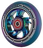 Team Dogz, 100 mm, 1 roue de trottinette arc-en-ciel, cœur lisse en alliage avec...