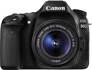 Canon EOS 80D DSLR Digitalkamera inkl. EF-S 18-55mm F3.5-5.6 IS STM Objektiv (24,2 Megapixel, 7,7 cm (3 Zoll) Display, DIGIC 6 Bildprozessor, NFC und WLAN, Full HD), schwarz (B01C2XJWZ6) | Amazon price tracker / tracking, Amazon price history charts, Amazon price watches, Amazon price drop alerts