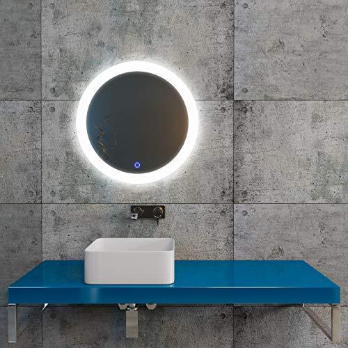 KERABAD LED-Badspiegel rund 60cm K402 Wandspiegel Badezimmerspiegel Badezimmer Möbel mit Beleuchtung