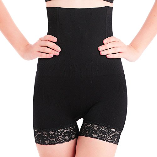 SURE YOU LIKE Damen Figurenformend Miederpants Miederhose Shapewear Bauch-Weg-Effekt Formt Sofort Body Shaper, Schwarz, M/L