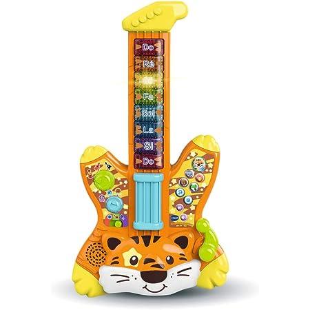 VTech - Guitare Électrique Tigre - Jungle Rock – Guitare Bébé / 2-5 Ans – Version FR