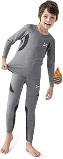 MEETYOO Ropa Interior Térmica Niño, Conjuntos Térmicos de Esquí Funcional Camiseta Térmicos Pantalón para Running Futbolís...