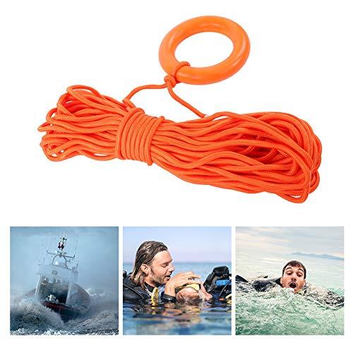 Dioche Cuerda Flotante, Cuerda Flotante Al Aire Libre del Salvavidas del Rescate del Agua de Lifeline con el Anillo 30m de la Mano