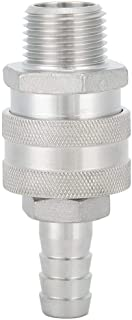 Brewing Connector, 1/2in Female Thread Stainless Steel Quick Connector Adapter Home Brew Fitting Connector A Practical Accessory for Home Brewing Beer