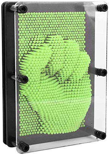 HEEPDD 3D Pin Art Toy, Plastic Pin Art Board Clone Pin Art Sculpture Pin Impression Toy Home Office Desktop Toy for Kids Adults Gift(Green)